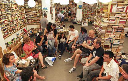 Sesión del club de lectura de la editorial Pulpture, el pasado miércoles.