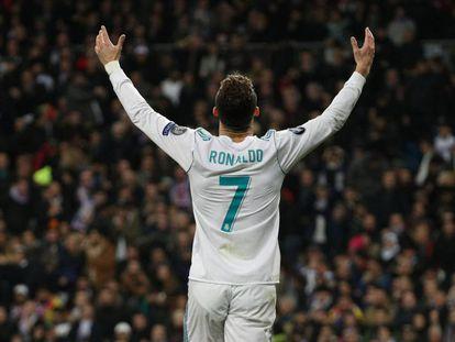 Cristiano Ronaldo celebra el empate frente a PSG