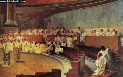 Ciceró al senat romà.