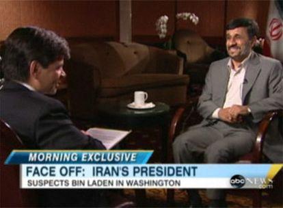 Ahmadineyad, en el programa 'Good Morning America', de la cadena ABC.
