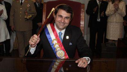 Federico Franco tras jurar su cargo.