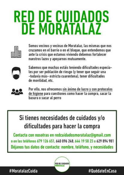 Red de Cuidados de Moratalaz del Centro Social La Salamandra