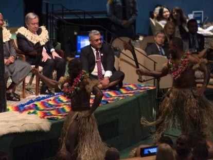 La conferencia se ha abierto con la kava, ceremonia trdicional de Fiji.
