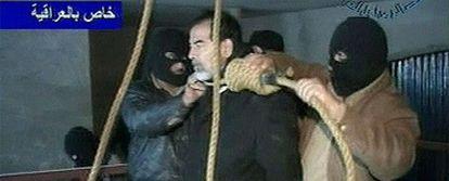 Primeras imágenes de la ejecución de Sadam, ofrecidas por la televisión estatal Al Iraquiya.