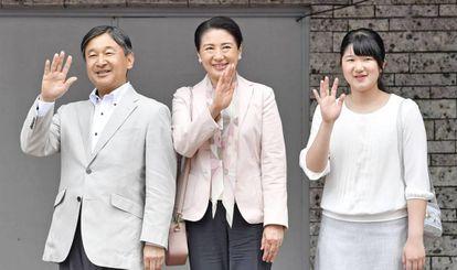 La princesa Aiko, con sus padres el príncipe heredero Naruhito y Masako.