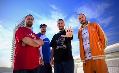 El grupo Violadores del verso, en una imagen promocional.