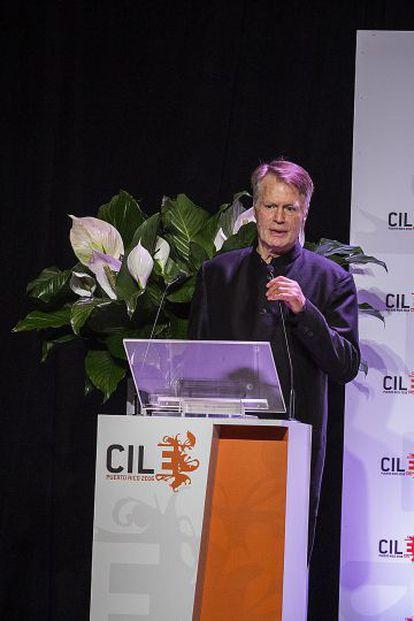 Jean-Marie Le Clézio, el martes en el VII Congreso Internacional de la Lengua en San Juan de Puerto Rico.