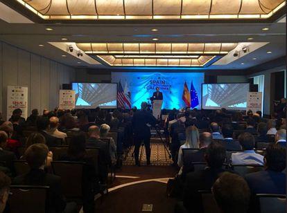 Francisco Garzón, consejero delegado de ICEX, inaugurando #SpainSoCal ante más de 200 asistentes,