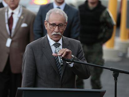 El presidente de la Republica Árabe Saharaui, Brahim Gali, en 2017 en Quito (Ecuador).