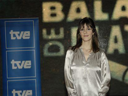 Lorena Berdún, ayer, durante la presentación de Balas de plata.