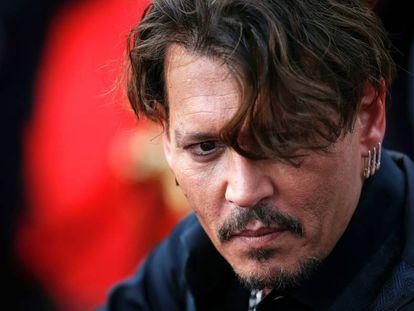 Johnny Depp, en el estreno de 'Piratas del Caribe', en China.