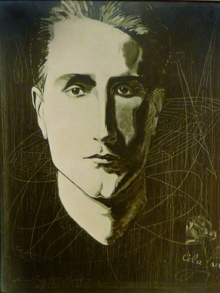'Cela vit' (1923), obra de Man Ray sobre un retrato suyo a Duchamp.