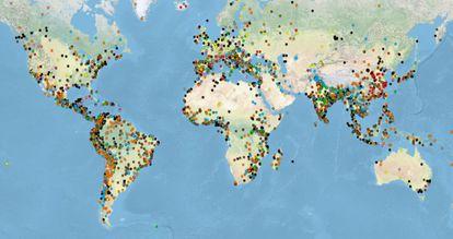 Captura de pantalla del Atlas de Justicia Ambiental (EJATlas).