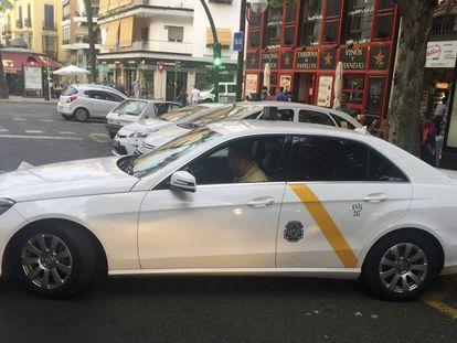Para de taxis en Sevilla.
