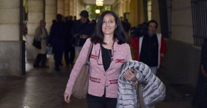 La juez María Núñez, en los juzgados sevillanos.
