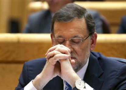 Mariano Rajoy, durante un debate sobre el estado de la nación.