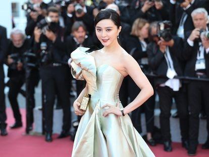 La actriz Fan Bingbing, en la alfombra roja de Cannes en mayo de 2018.