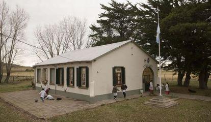 Una escuela rural en la provincia de Buenos Aires.