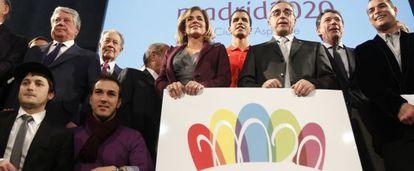 Presentación del logo para la candidatura de Madrid 2020.