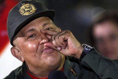 Hugo Chávez, el viernes pasado en Caracas, tras culminar su tercer ciclo de quimioterapia.