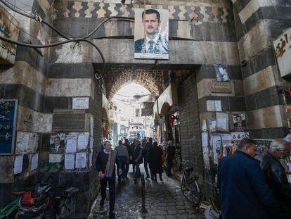 Una calle de la ciudad vieja de Damasco, el pasado día 2.