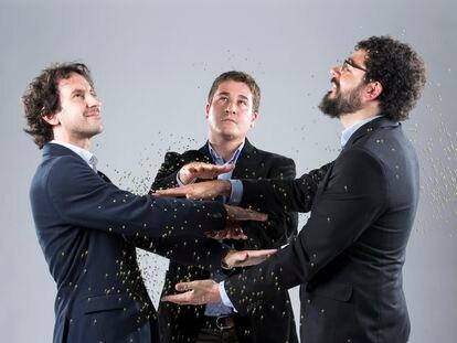 Carlos Díez, Pablo Gómez y Pablo Martínez, fundadores de Muon Systems.
