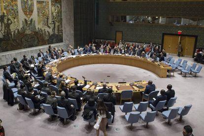 El Consejo de Seguridad de la ONU, reunido el viernes 23 de diciembre en Nueva York.