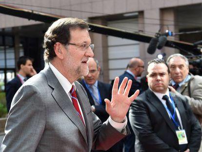 Mariano Rajoy, este jueves en Bruselas.