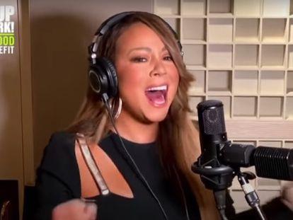 Mariah Carey canta para el telemaratón solidario por el coronavirus.