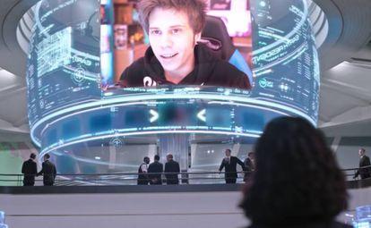 El youtuber 'El Rubius' en la película 'Men in Black: International'.
