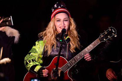 Madonna, durante su concierto en Nueva York a favor de Hillary Clinton, el pasado lunes 7.
