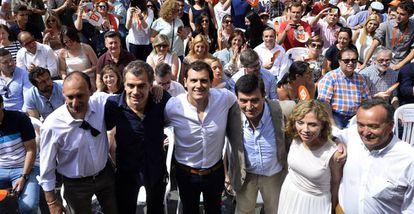 Albert Rivera, en un acto electoral en Valencia.