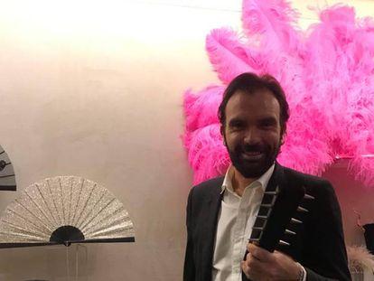 Olivier Bernoux, en su tienda de Madrid.