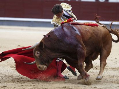 El Juli, con el segundo toro de su tarde, 'Licenciado'.