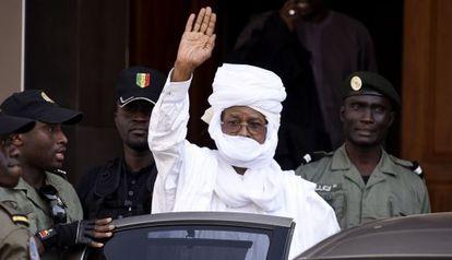 El dictador chadiano Hissène Habré, en los juzgados de Dakar el 3 de junio.