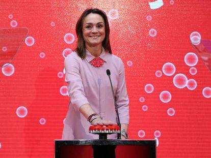 Sol Daurella, presidenta de Coca-Cola European Partners, en la Bolsa de Madrid.