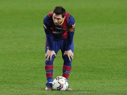 Messi, durante un partido del Barcelona en esta temporada.