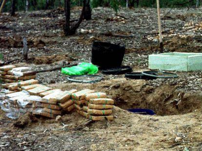 Fardos de heroína incautados en una operación desarrollada en Alcalá y Toledo en 2019.