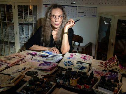 Bracha L. Ettinger, en su casa/estudio en Tel Aviv.