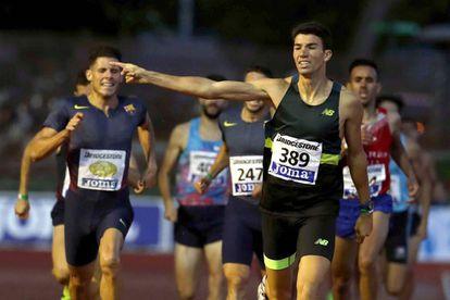 Mechaal, el pasado domingo, ganando en Barcelona el campeonato de España de 1.500m.