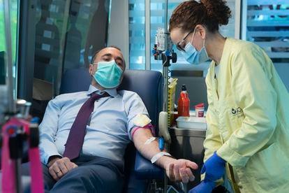 Donación de sangre.