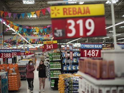 Un supermercado en Buenos Aires, el pasado lunes 18 de octubre.