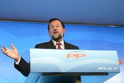 Mariano Rajoy, durante una rueda de prensa posterior a la reunión del Comité de Dirección del PP celebrada hoy.