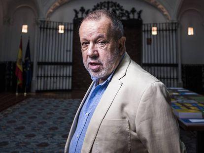 Francisco Fernández Marugán, en la sede de la institución en julio.