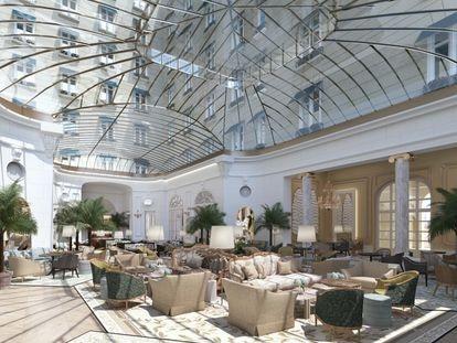 La bóveda de cristal inunda de luz natural los salones centrales tras 80 años de cubiertas opacas.