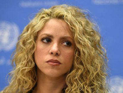 La cantante Shakira en un evento de UNICEF en 2015