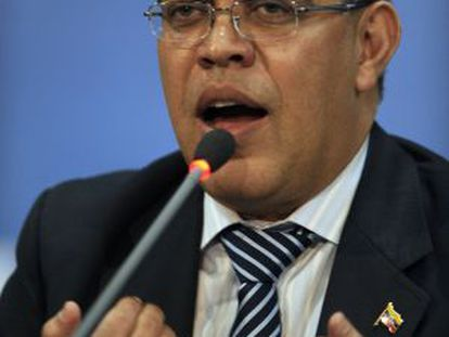 Elías Jaua, en la cumbre de la OEA en Antigua.