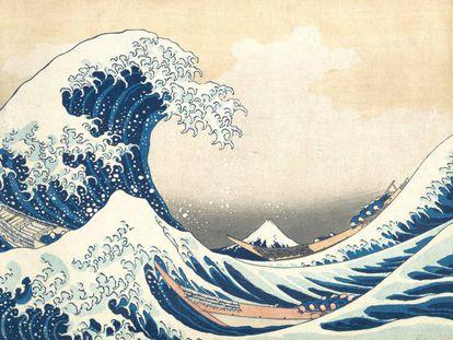 'La gran ola de Kanagawa' (1830-31) de Hokusai.