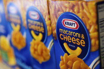 Cajas de macarrones y queso de Kraft Foods.
