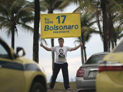 El ultraderechista obtendría el 49% de la intención directa de voto, por el 36% de Fernando Haddad